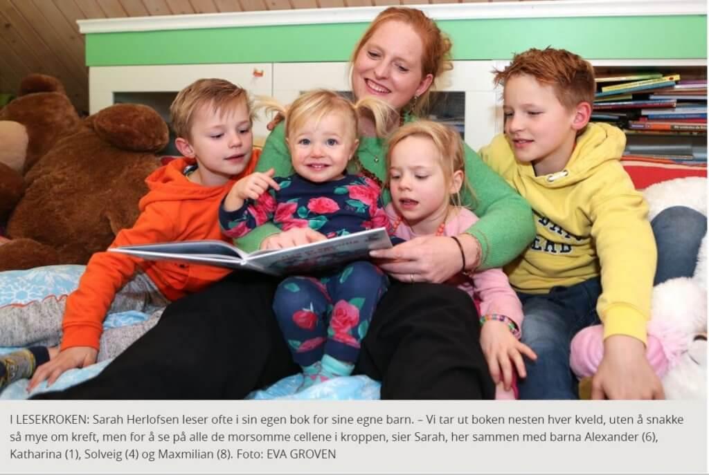 Leser med barna