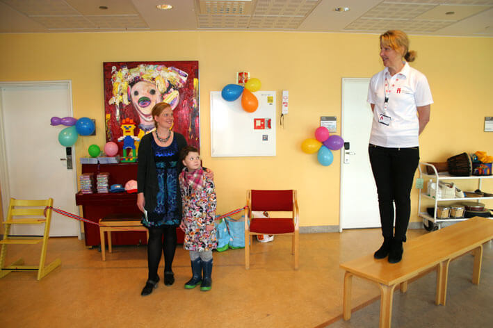 Anna Starberg fra Barnekreftforening Oslo Akershus åpner seremonien