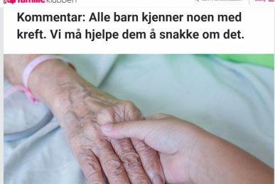 VG-Kommentar- Hvordan snakke med barn om kreft
