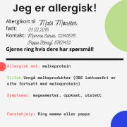 allergikort Mats Mønster